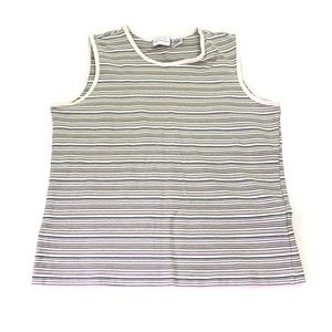 White Stag Ladies Striped Tank Top Size M P43
